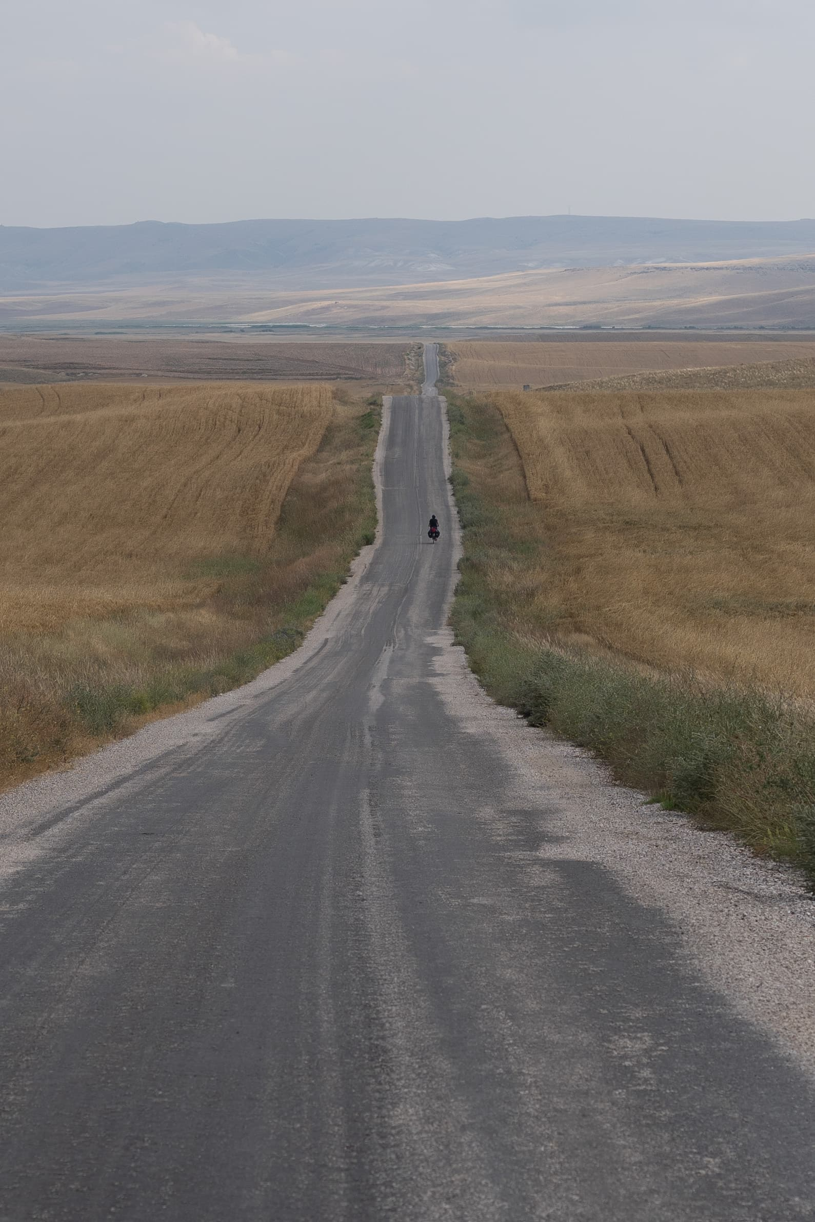 cycling on endless turkish roads