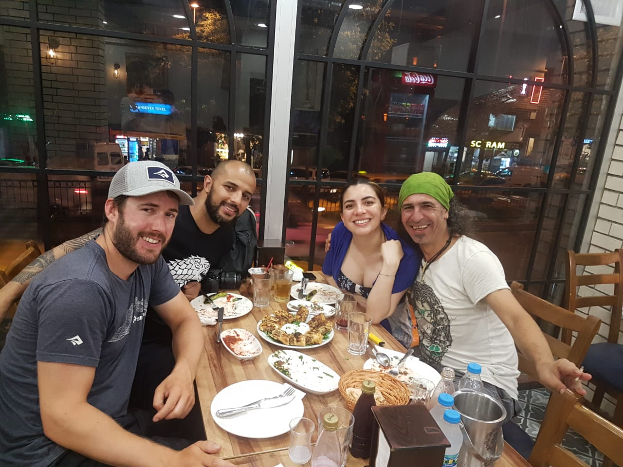 dinner with colombian and turkish friends