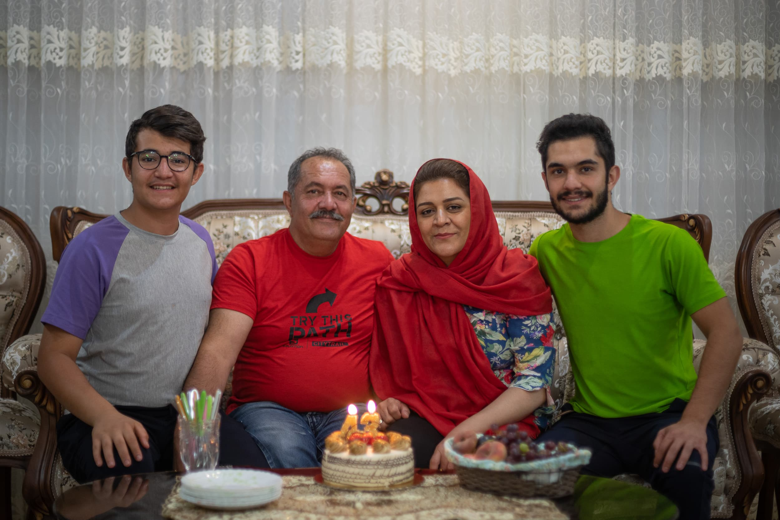 Amir and family