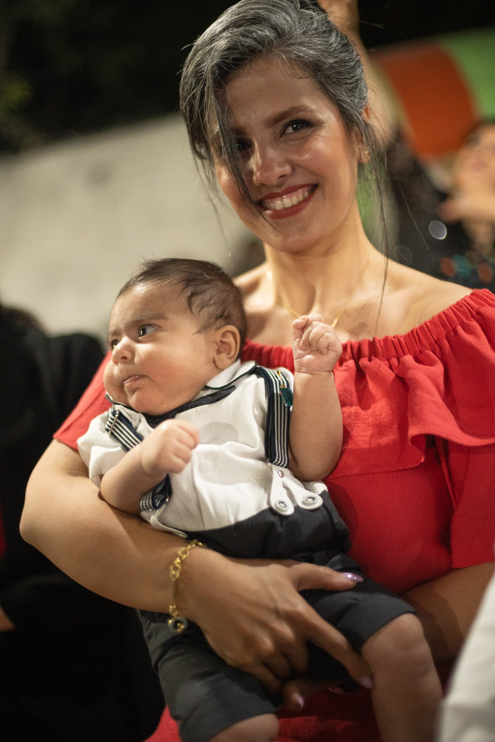 Iranian woman with baby