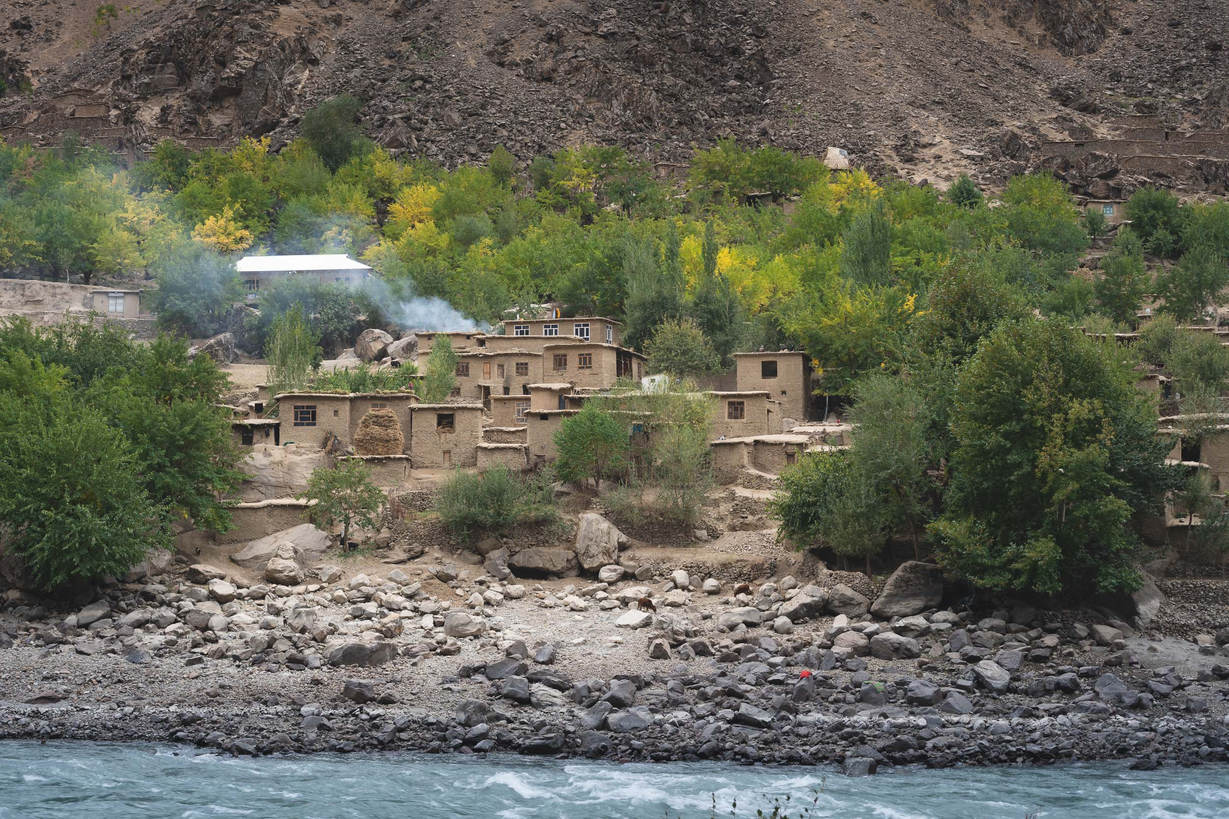 Afghan mountain village