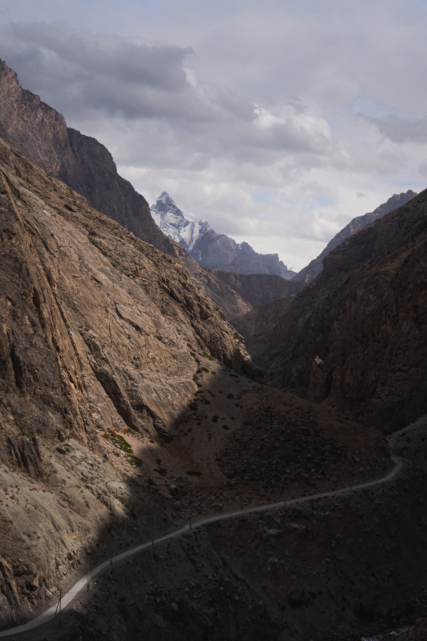 Pamir highway mountain roads
