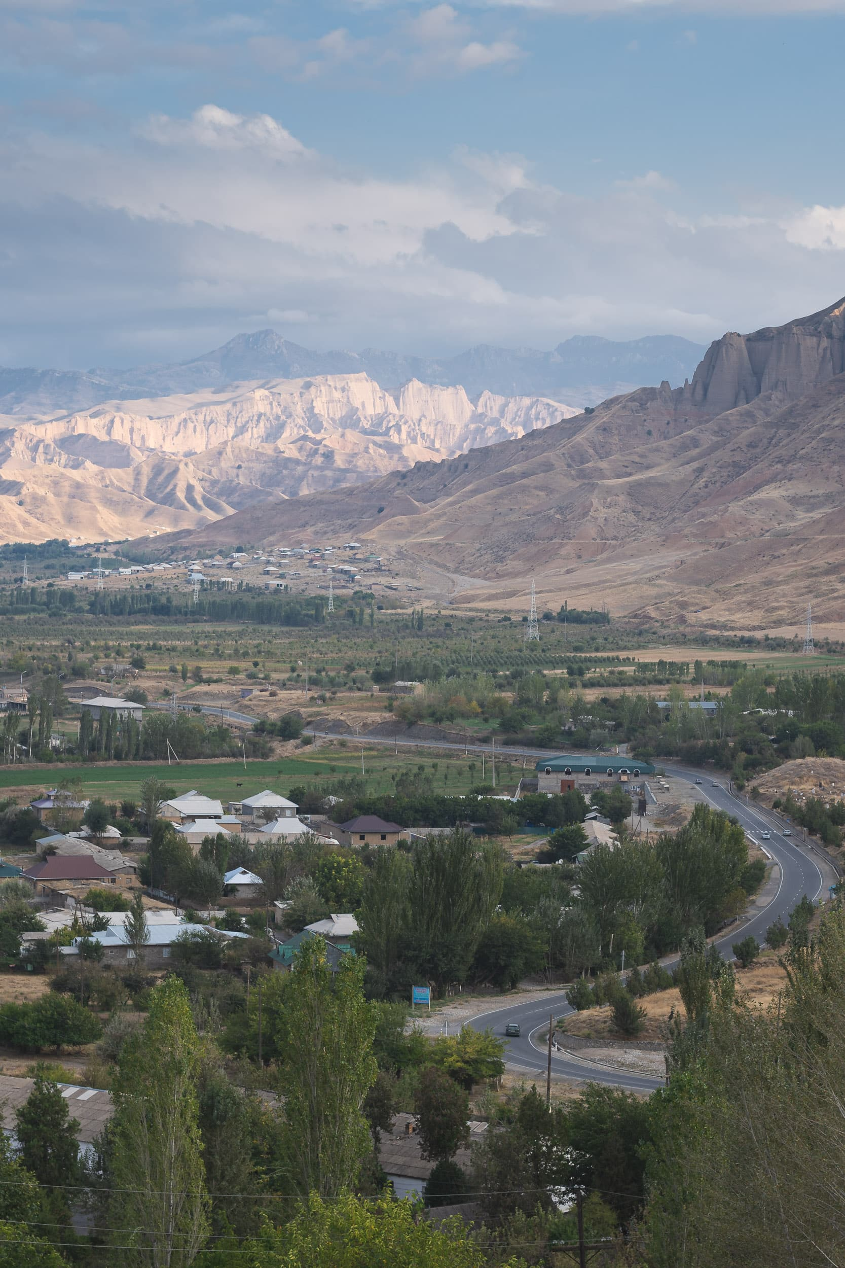 Pamir mountain valley