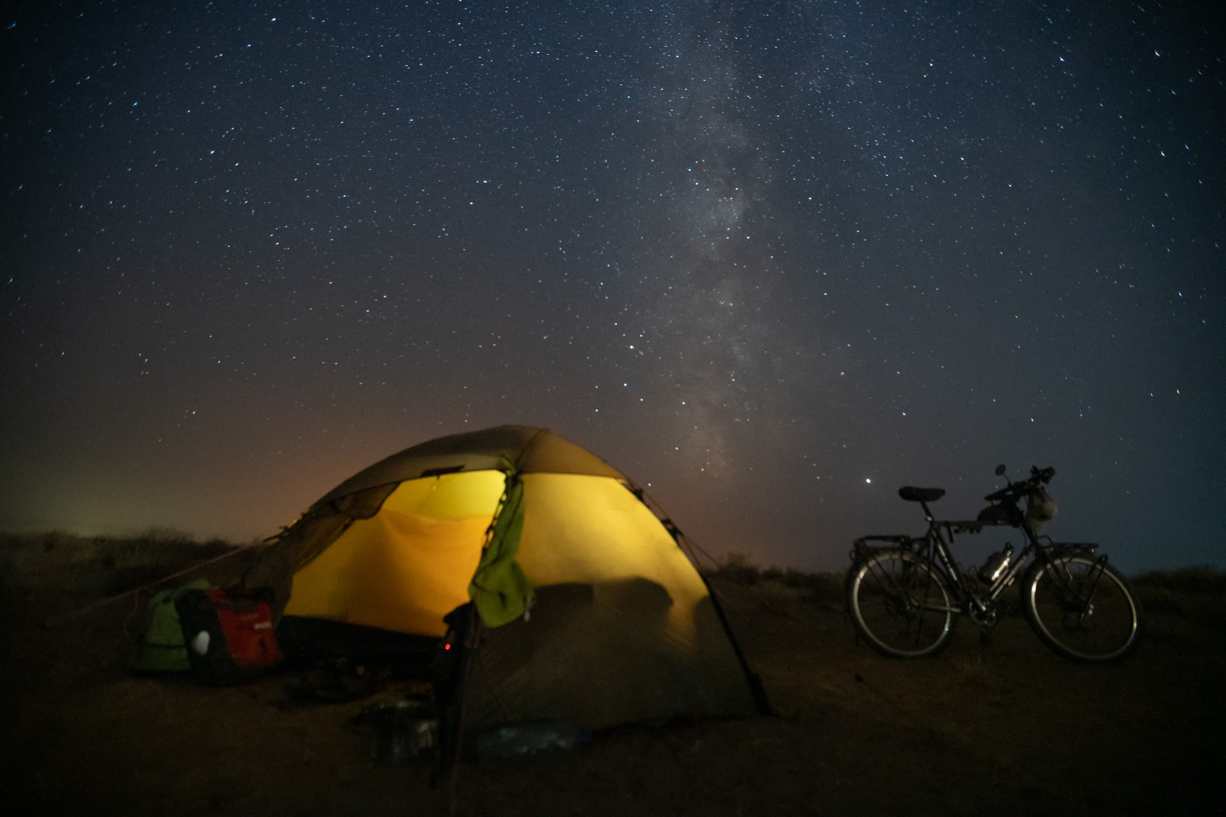 a night under the stars in Uzbekistan