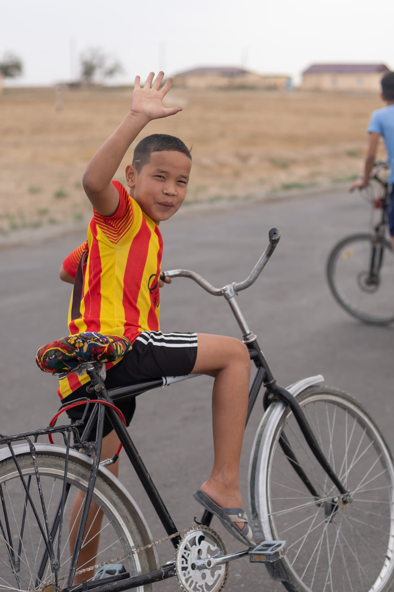 Bicycle kids in Uzbekistan