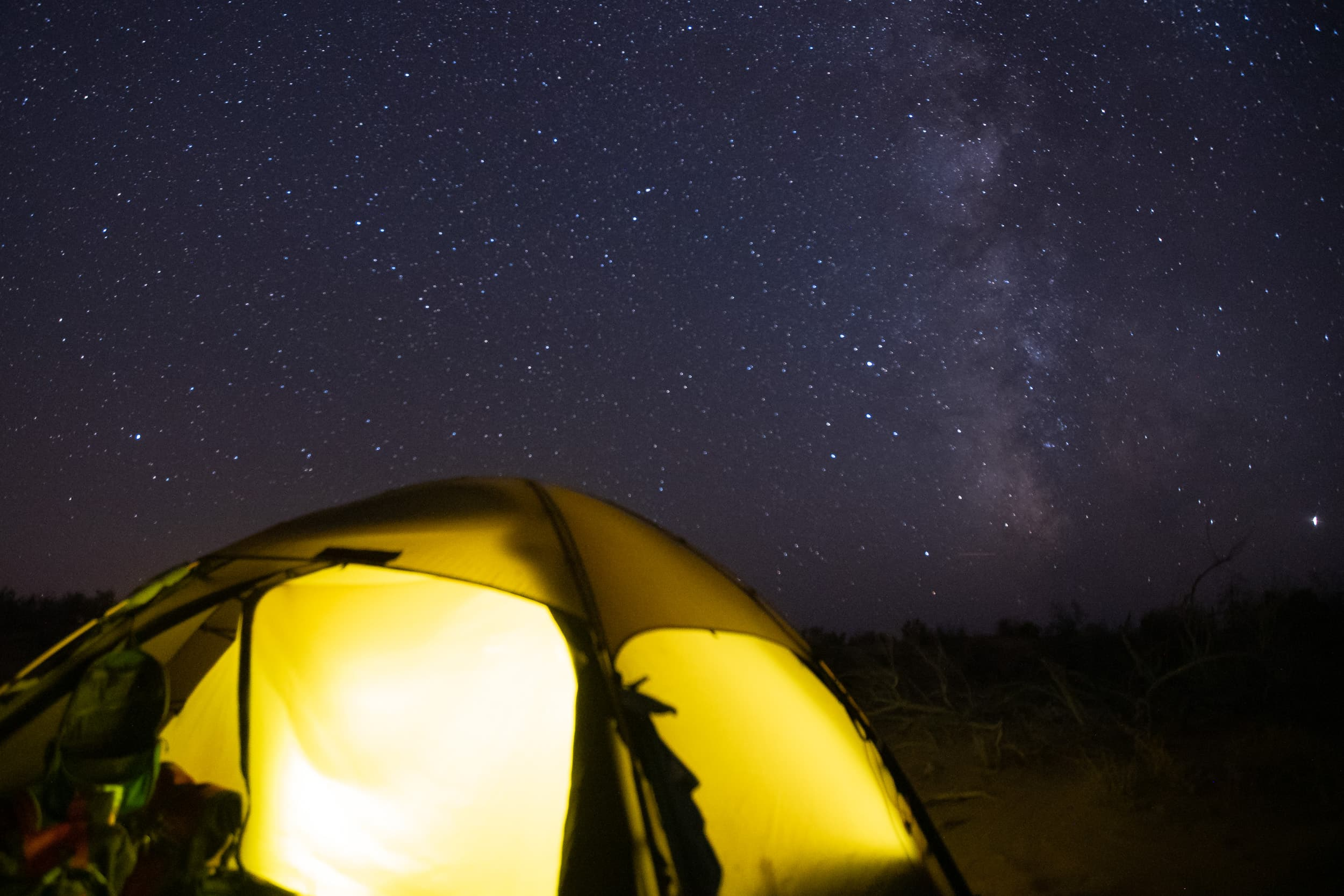 camping under the stars Uzbekistan