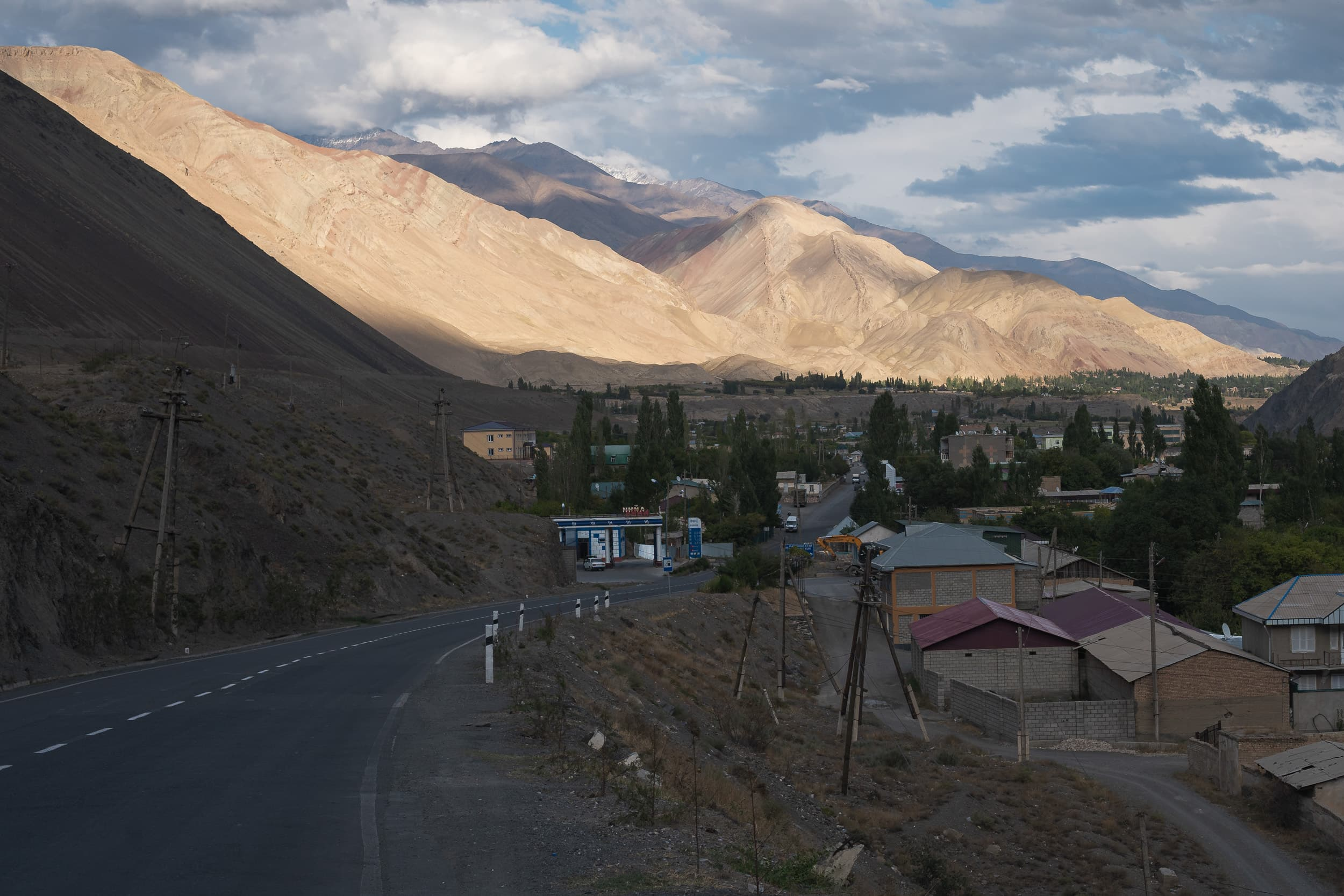 mountain village scenery Pamir