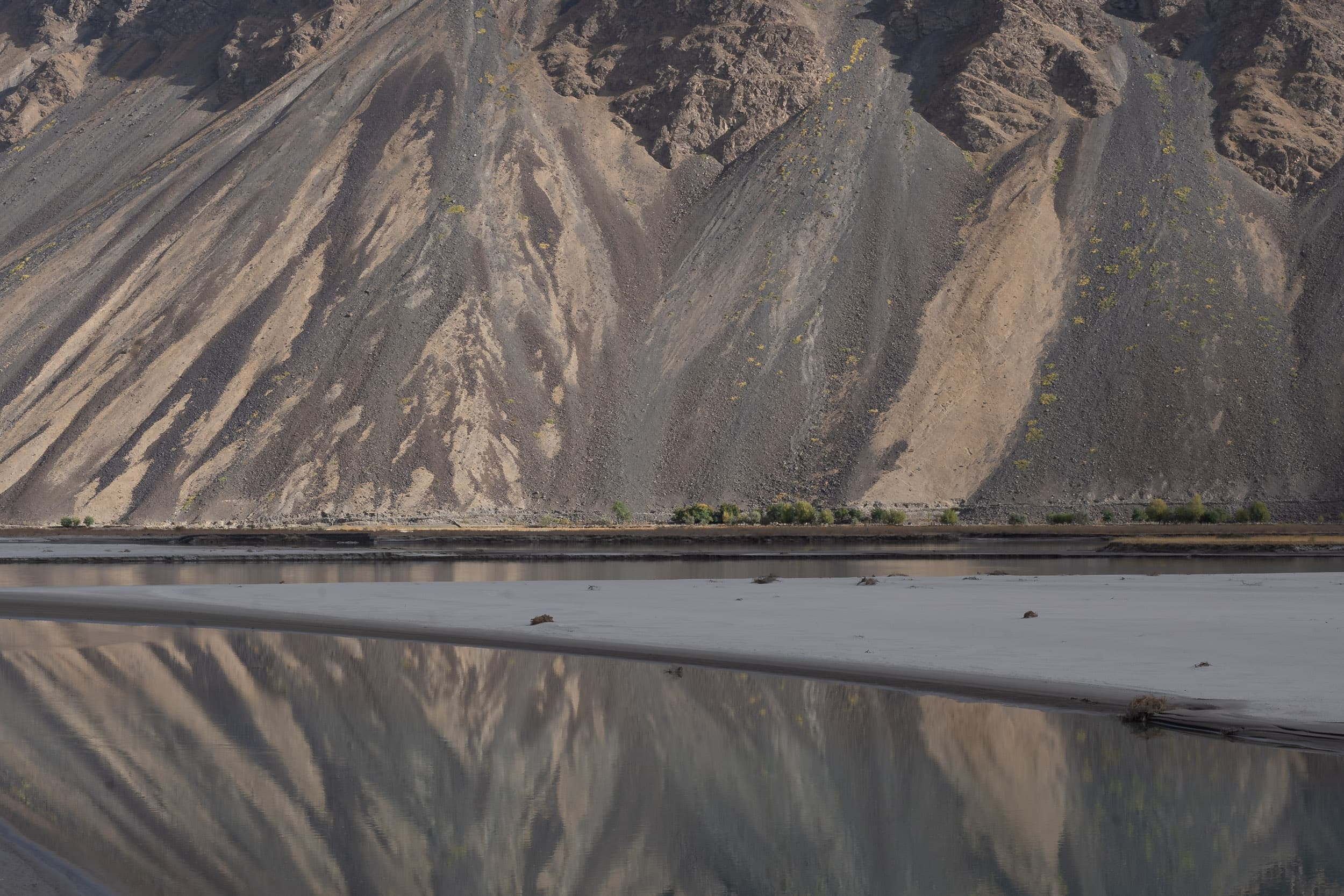 Pamir mountain reflections