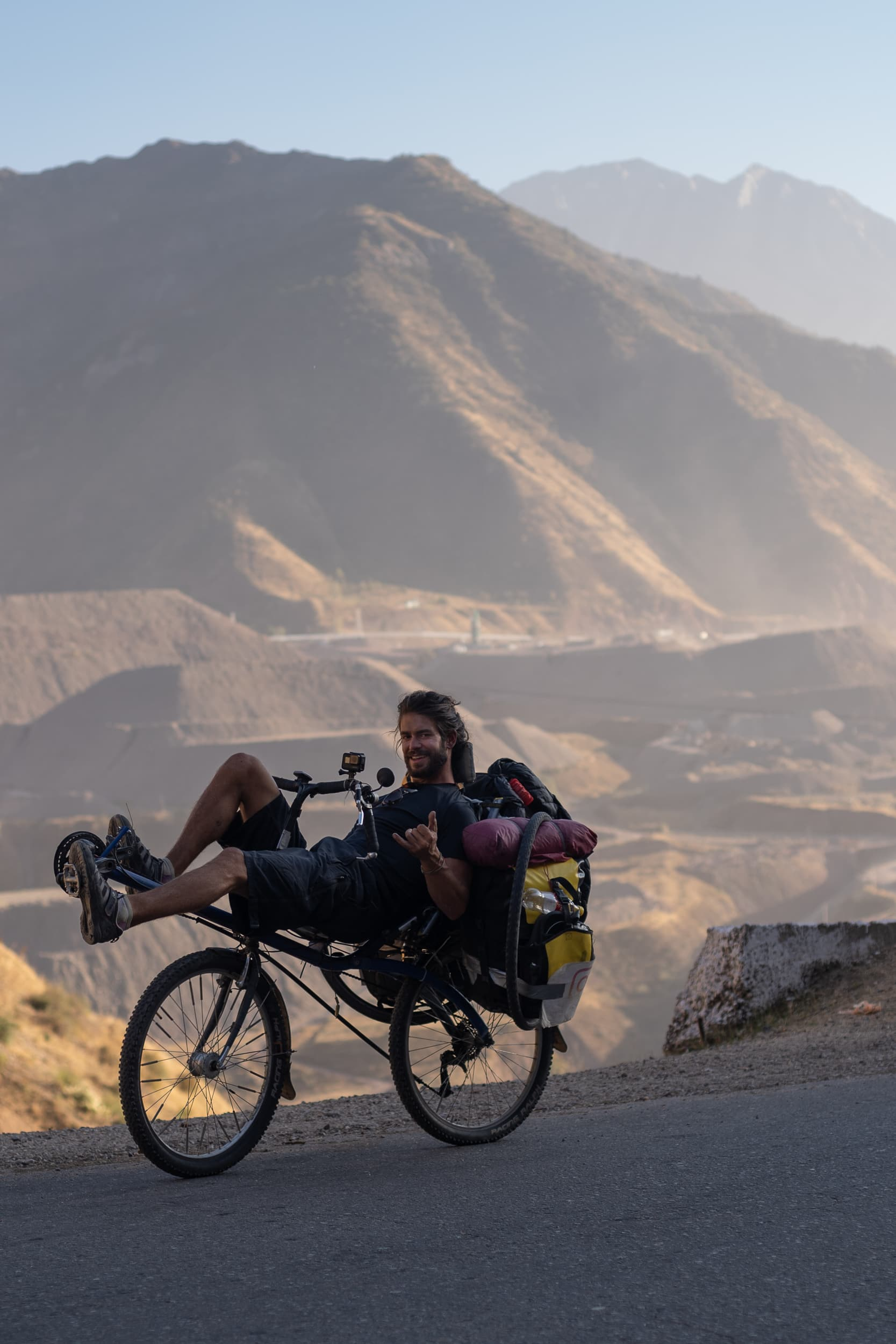 Victor cycling the Pamirs