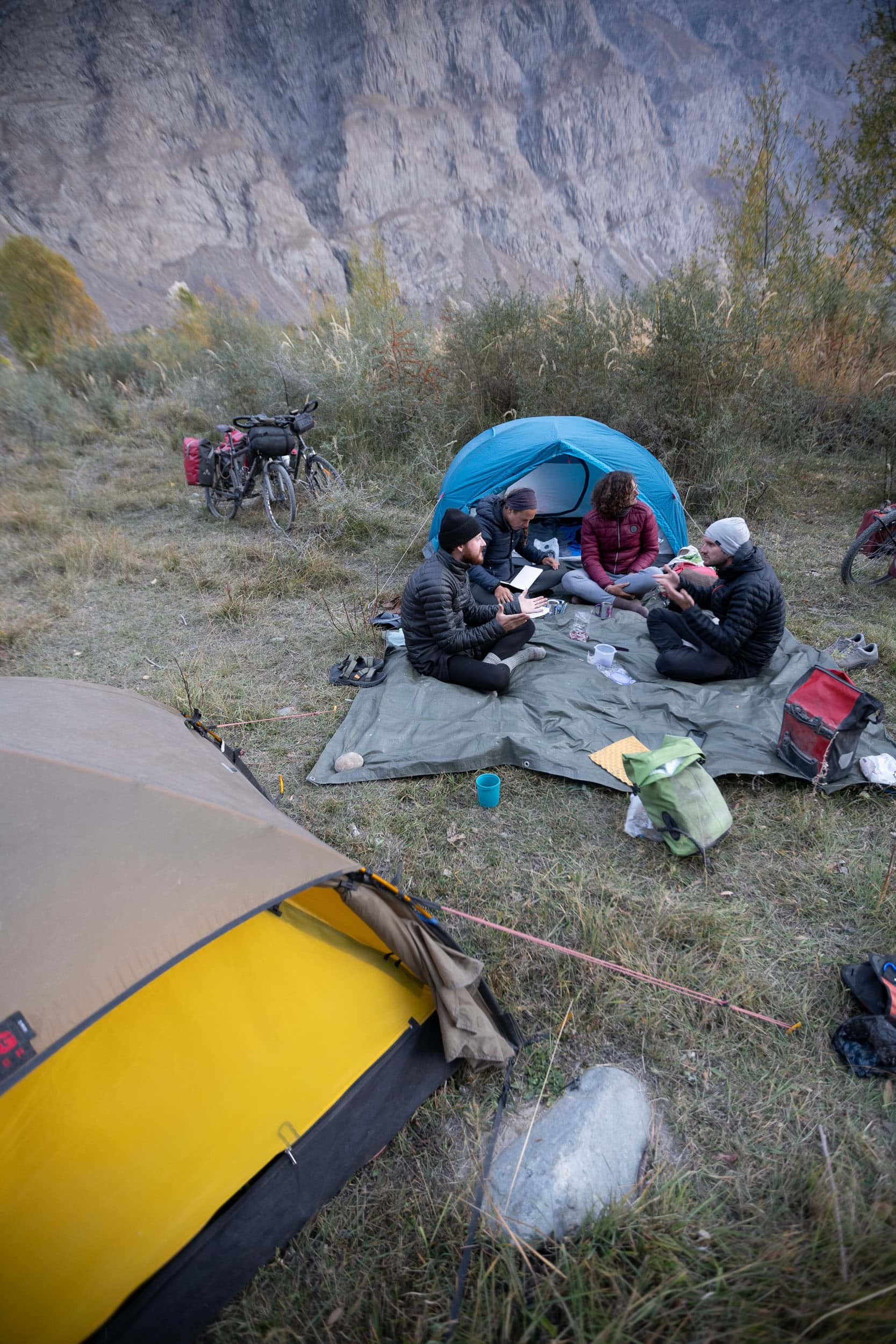 Bartang Valley camp