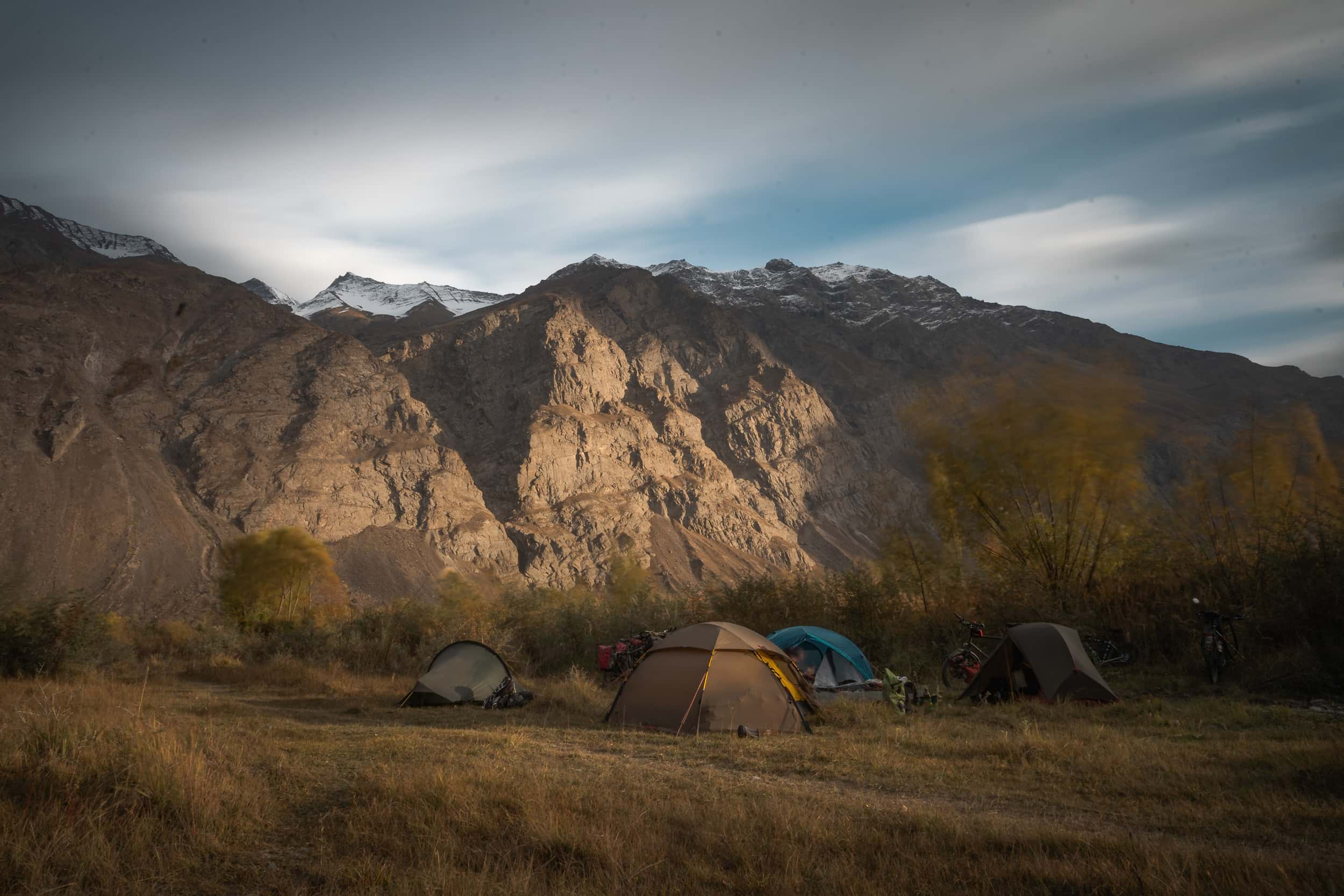Pamir Highway campsite Bartang Valley