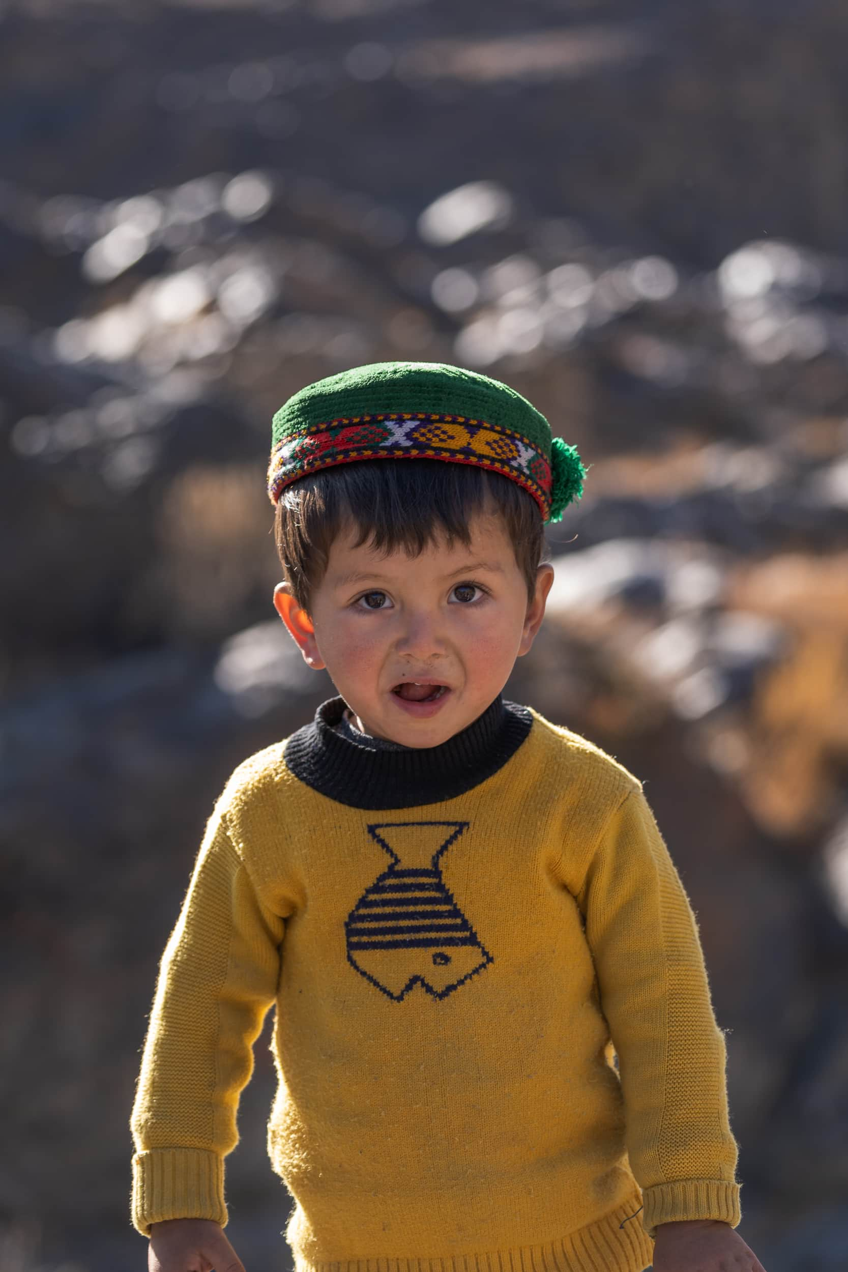 Tadjik boy at the Bartang Valley