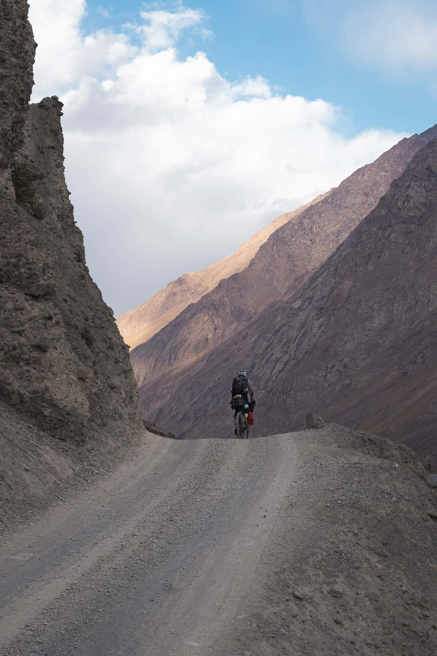 Andrew bikepacking the Bartang Valley
