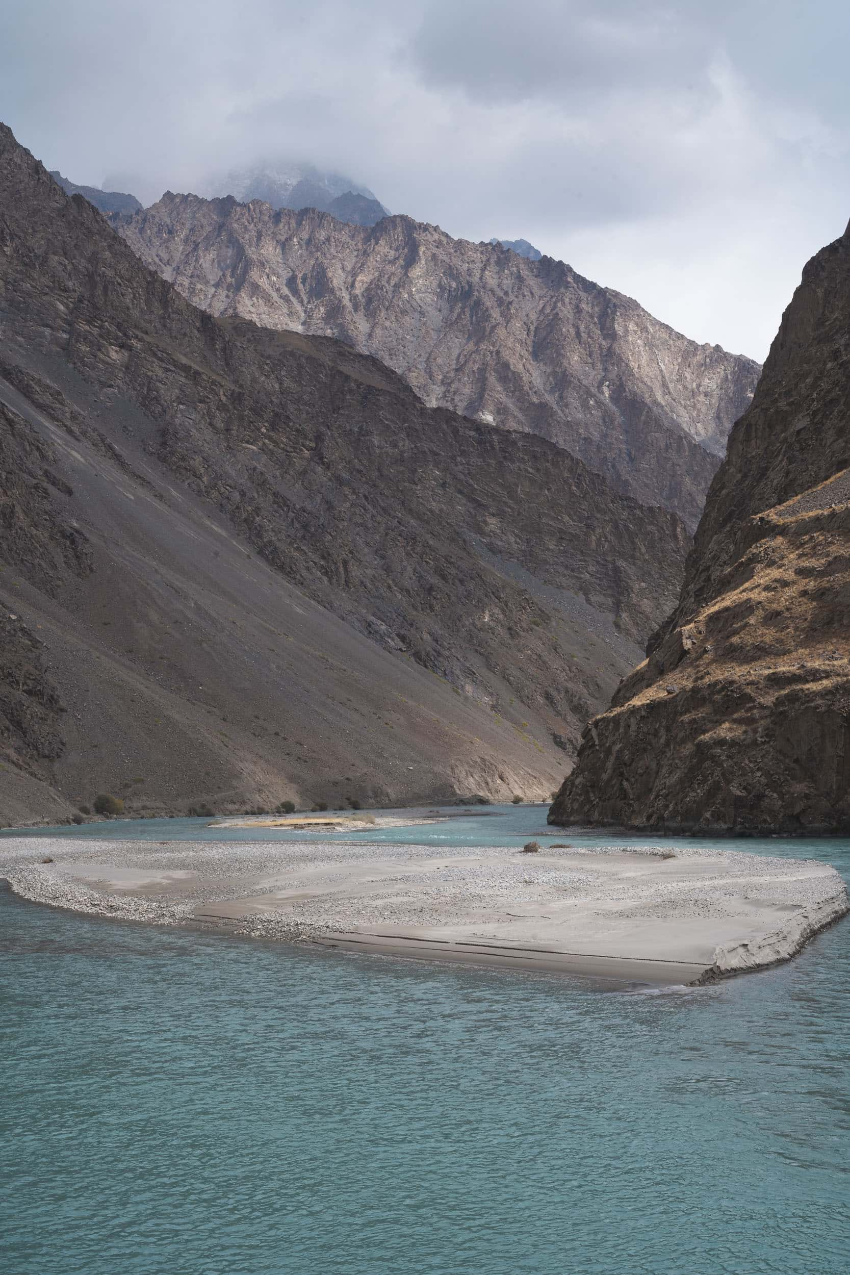Bartang Valley river Pamir Highway