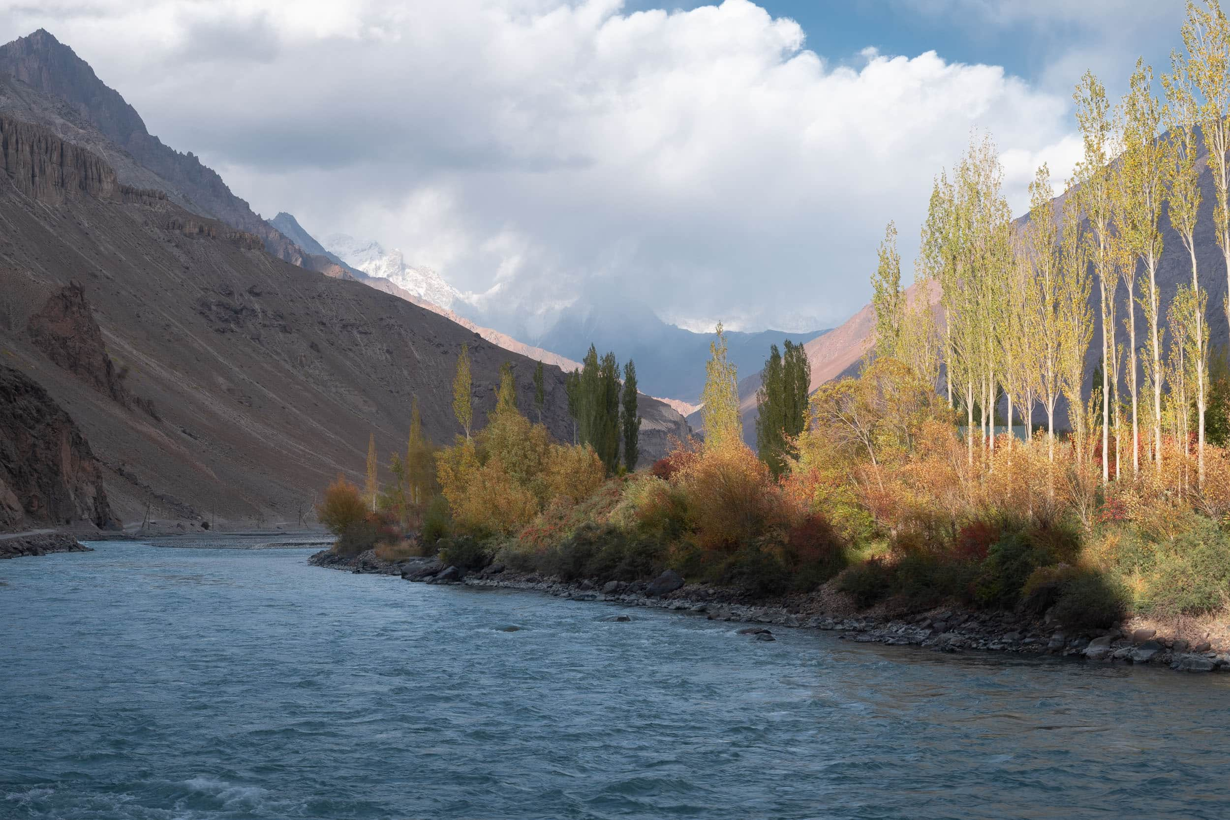 Bartang valley in autumn