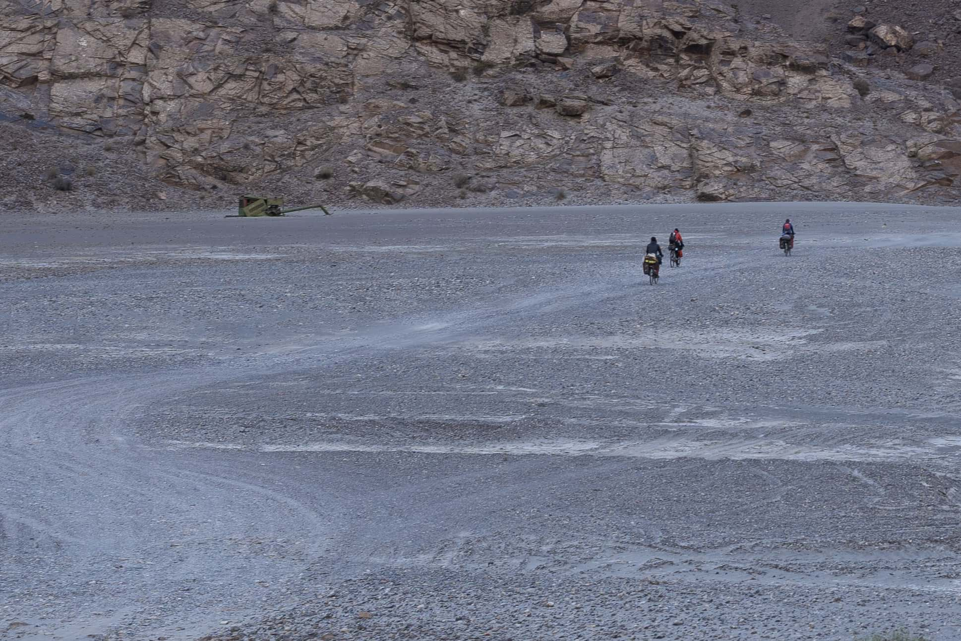 cycling rough roads Pamir Highway Bartang Valley