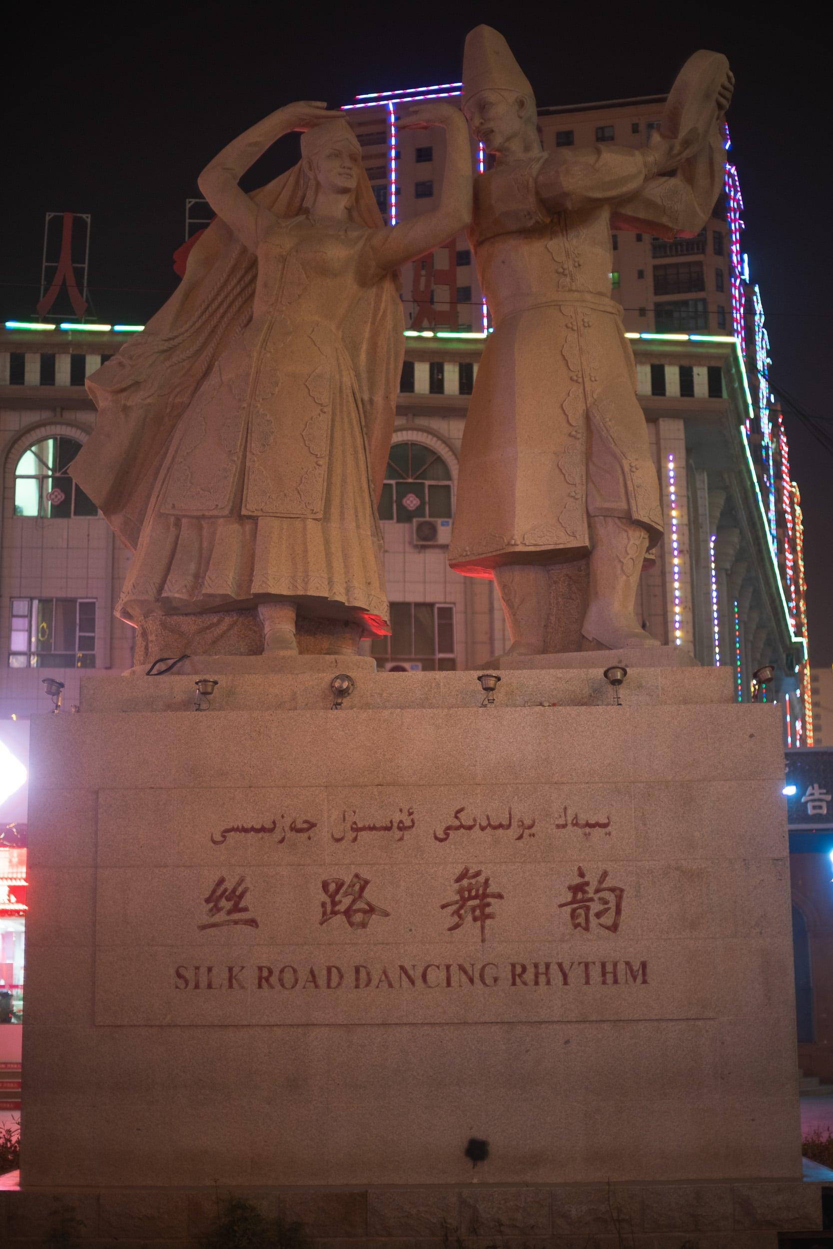 Silk road monument