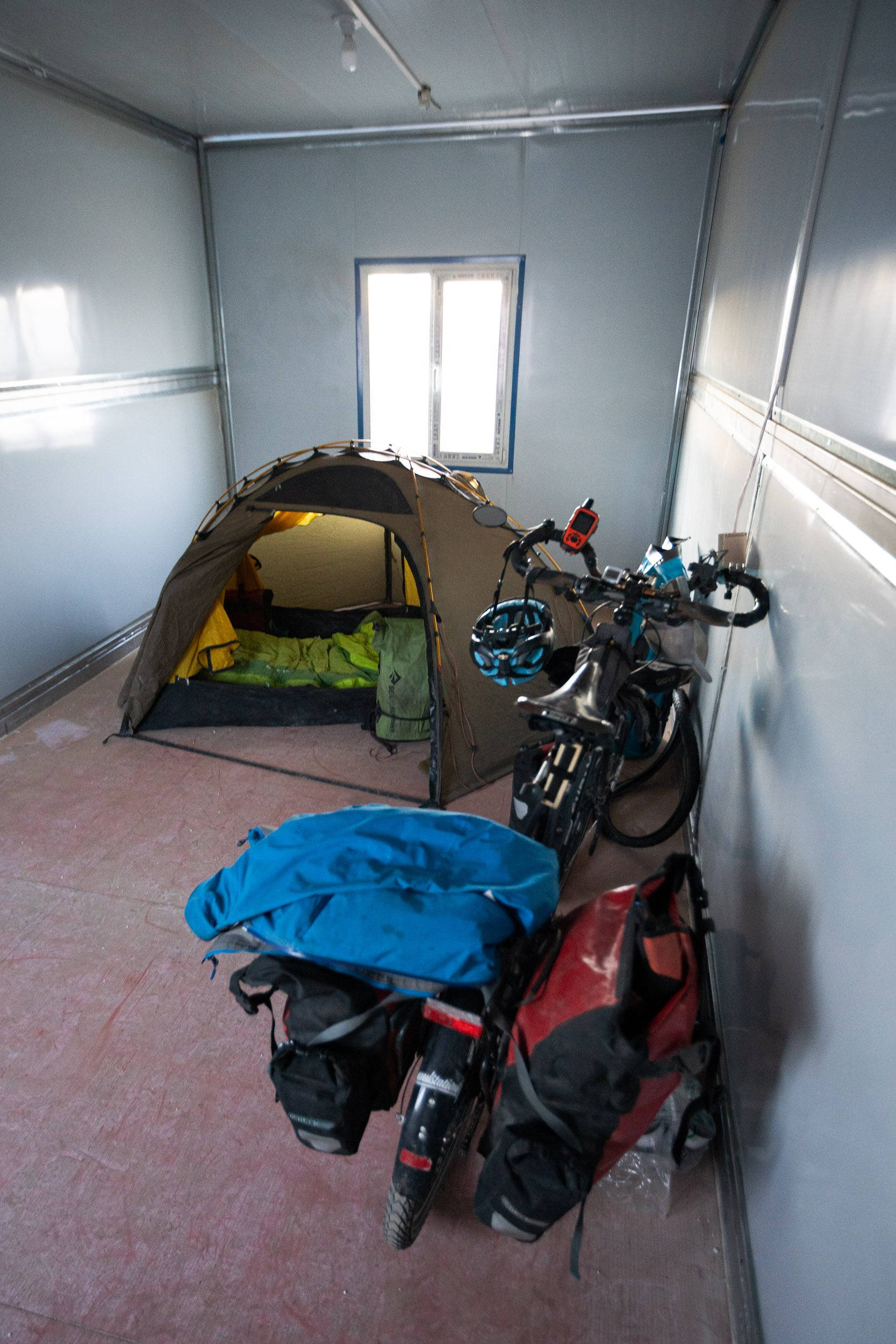camping shelter cycle touring